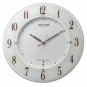 リズム時計 4MY847SR03 RHYTHM スリーウェイブM847 サイレントステップ秒針 快速スタート機能 高感度電波掛時計