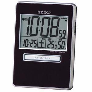 セイコークロック SQ699K トラベラ 電波トラベルクロック デジタル表示 温度湿度表示 アラーム(4段階) 置用スタンド付