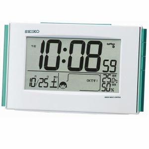 セイコークロック SQ776W 環境快適NAVI 電波デジタル置時計 温度・湿度表示 アラームモニター スヌーズ ライト付