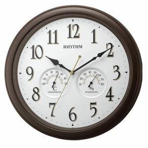 リズム時計 8MGA37SR06 RHYTHM オルロージュインフォートM37 掛時計 連続秒針 温度・湿度表示