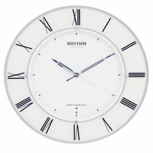 リズム時計 4MY847SR04 RHYTHM スリーウェイブM847 高感度電波掛時計 白半艶仕上(白) サイレントステップ秒針