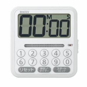 リズム時計 8RTA03DA03 DAILY タイマーコンビF デジタルタイマー 掛置兼用 電子音アラーム 一時停止/リピート機能付