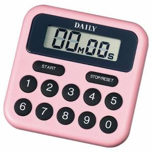 リズム時計 TT010DA13 DAILY タイマーBS デジタルタイマー 電子音アラーム 分秒セット式 減算・積算時計可能