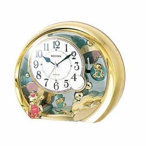 リズム時計 4SE504SR18 RHYTHM ファンタジーランド504SR クオーツ置時計 アラーム付 飾振子付