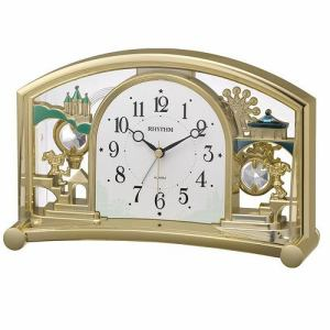 リズム時計 4SE540SR18 RHYTHM ファンタジーランド504SR クオーツ置時計 アラーム付 飾振子付