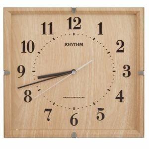 リズム時計 8MY502SR07 RHYTHM ライブリーエミリ 電波掛時計 電波受信OFF機能 薄茶木目仕上(薄茶) 連続秒針