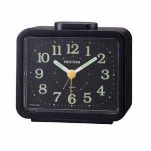 リズム時計 4RA859SR02 RHYTHM ジャプレSR859 ベル音目覚し時計 数字時分針蓄光
