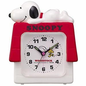 リズム時計 4SE551MS03 スヌーピーR551 クオーツ目覚し時計 電子音アラーム ステップ秒針