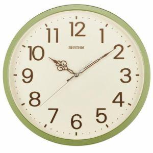リズム時計 8MGA39SR05 RHYTHM オルロージュリフレ クオーツ掛時計 緑メタリック 連続秒針