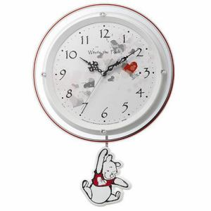 リズム時計 8MX407MC03 振り子時計 電波掛時計 白パール(白) 連続秒針 夜眠る秒針 振り子付