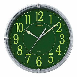 カシオ IQ-56SA-8JF 掛時計 メタリックシルバー スムーズ秒針 集光樹脂文字板