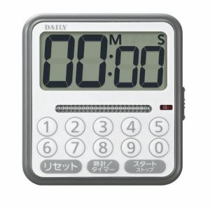 リズム時計 8RTA03DA08 DAILY タイマーコンビF デジタルタイマー 時計機能付 電子音アラーム 掛置兼用