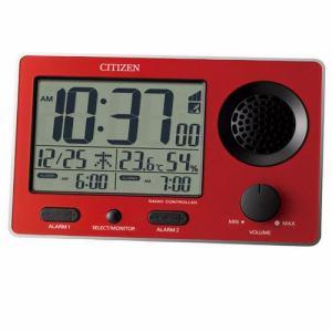リズム時計 8RZ149SR01 CITIZEN スーパークリアトーンFSR 電波デジタル時計 カレンダー表示 温度・湿度表示付