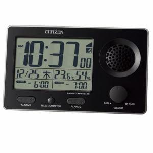 リズム時計 8RZ149SR02 CITIZEN スーパークリアトーンFSR 電波デジタル時計 カレンダー表示 温度・湿度表示付