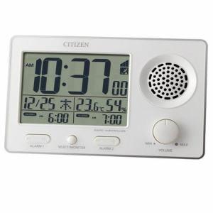 リズム時計 8RZ149SR03 CITIZEN スーパークリアトーンFSR 電波デジタル時計 カレンダー表示 温度・湿度表示付