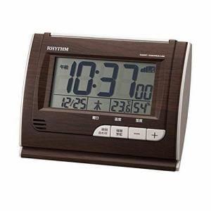 リズム時計 8RZ165SR06 RHYTHM フィットウェーブD165 電波目覚し置時計 カレンダー表示 温度・湿度表示付