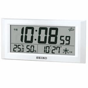 セイコークロック GP502W デジタル時計 スペースリンク 衛星電波クロック 温・湿度表示 掛置兼用