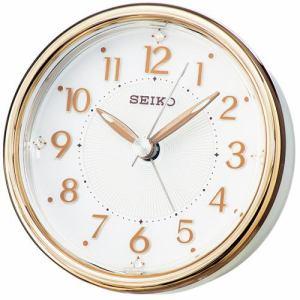 セイコークロック KR897B スタンダード 目覚し時計 スイープセコンド スヌーズ 電子音アラーム スヌーズ機能付