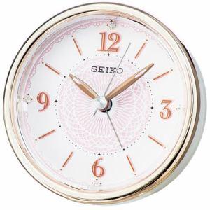 セイコークロック KR897P スタンダード 目覚し時計 スイープセコンド スヌーズ 電子音アラーム スヌーズ機能付