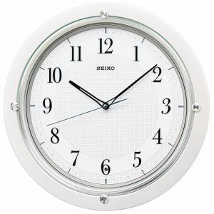セイコークロック KX217W スタンダード 電波掛時計 スイープセコンド おやすみ秒針