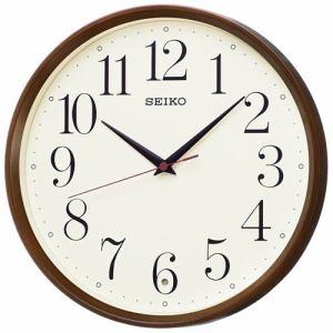 セイコークロック KX222B スタンダード 電波掛時計 濃茶木目模様塗装 スイープセコンド おやすみ秒針