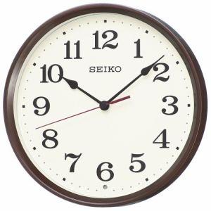 セイコークロック KX223B スタンダード 電波掛時計 茶メタリック塗装 スイープセコンド おやすみ秒針