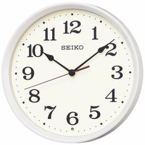 セイコークロック KX223W スタンダード 電波掛時計 白パール塗装 スイープセコンド おやすみ秒針