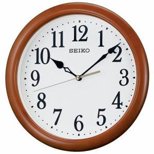 セイコークロック KX620B 掛時計 木枠(茶木地塗装) スイープセコンド