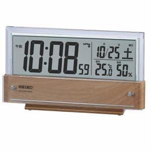 セイコークロック SQ782B 電波デジタル時計 温度・湿度表示付 電子音アラーム(オートストップ機能) スヌーズ機能付