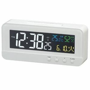 ノア精密 T-684 MAG カラーハープ 液晶電波置時計 温・湿度表示 4色カラー液晶表示 電子音アラーム(スヌーズ付)
