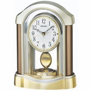 セイコークロック BZ238B 電波置時計 スタンダード スイープセコンド 飾振り子付