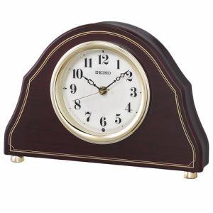 セイコークロック BZ239B 電波置時計 スタンダード 濃茶木目模様・木地塗装 スイープセコンド 木枠