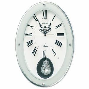 セイコークロック FS508W キャラクター 掛け時計 スイープ秒針 おやすみ秒針 飾振り子付