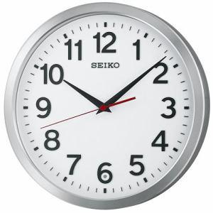 セイコークロック KX227S 電波掛時計 金属枠(アルミ光沢仕上) スイープセコンド おやすみ秒針 オフィスタイプ