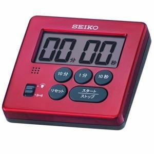 セイコークロック MT717R デジタルタイマー プラスチック枠(赤メタリック塗装) 電子音 リピート機能
