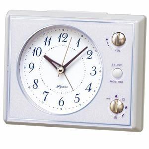 セイコークロック NR445H スタンダード 目覚し時計 マルチアラーム(スヌーズ・モニター機能付) スイープ秒針 ライト付