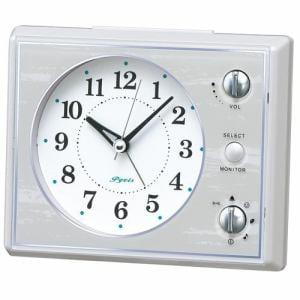 セイコークロック NR445W スタンダード 目覚し時計 マルチアラーム(スヌーズ・モニター機能付) スイープ秒針 ライト付