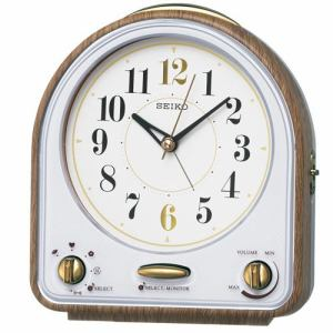 セイコークロック QM747B スタンダード 目覚し時計 メロディ・電子音切替アラーム スイープ秒針 ライト付