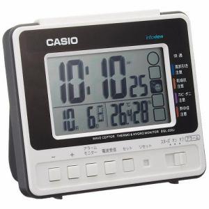 96121dcb58 カシオ DQL-250J-7JF 電波置時計 温度・湿度表示 日付表示 ライト機能