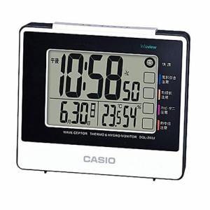 カシオ DQL-260J-7JF 電波置時計 温度・湿度表示 日付表示 ライト機能 電子音アラーム(スヌーズ付)