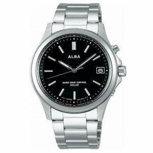 セイコー AEFY502 ALBA アルバ メンズ 10気圧防水 フルオートカレンダー 即スタート機能 ステンレス ソーラー電波モデル