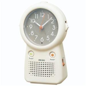セイコークロック EF506C 目ざまし時計 録音再生可能 アイボリー