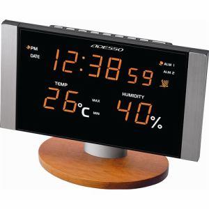 ADESSOS LED温湿度電波クロック C-8305OR オレンジ 1