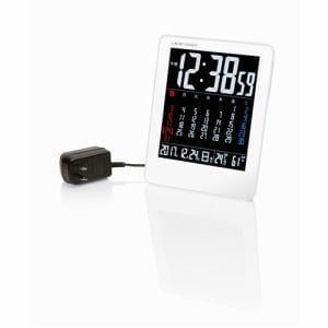 カラーカレンダー電波時計 NA-929 ホワイト 1