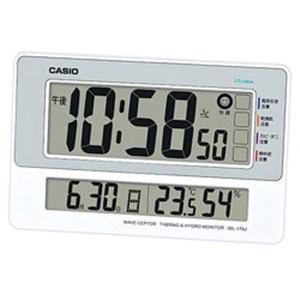 カシオ 電波掛け置き兼用時計 「温湿度計測付電波クロック」 IDL-170J-8JF
