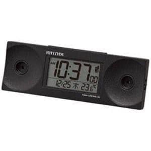 リズム時計 電波目覚まし時計 8RZ192SR02 (黒)