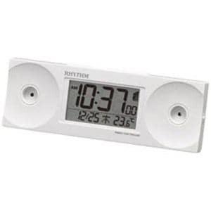 リズム時計 電波目覚まし時計 8RZ192SR03 (白)