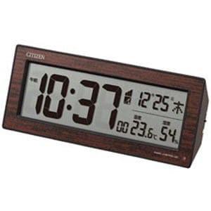 リズム時計 電波デジタル目覚まし時計 8RZ195023