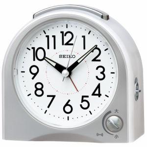 セイコークロック KR503W 目覚まし時計 SEIKO  白パール塗装