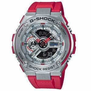 カシオ GST-410-4AJF G-SHOCK G-STEEL ワールドタイム 20気圧防水 ストップウォッチ機能 樹脂バンドモデル